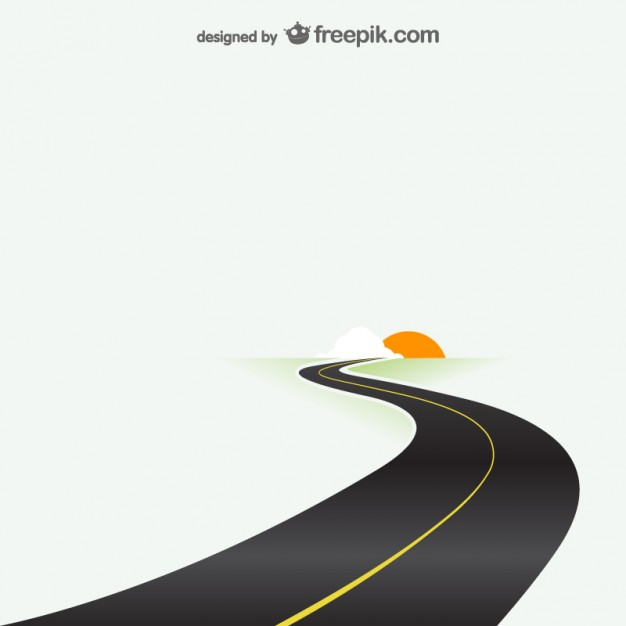 Road Destination Template Free Vector