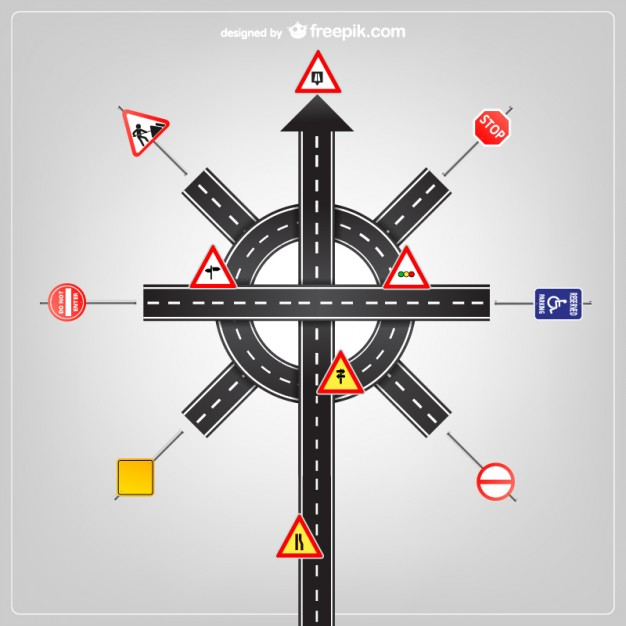 Road Signs Template Free Vector