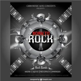Rock Concert Poster Free Vector