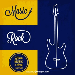 Rock Music Background Free Vector
