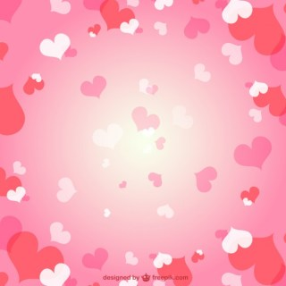 Romantic Hearts Background Free Vector