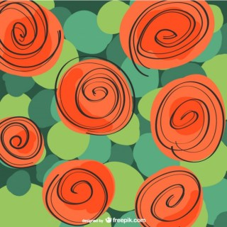 Rose Red Floral Background Free Vector