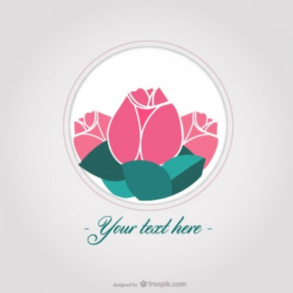 Roses Card Free Vector