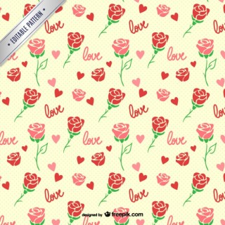 Roses Seamless Pattern Free Vector