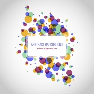 Round Shapes Abstract Background Free Vector