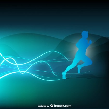 Runner Abstract Background Free Vector