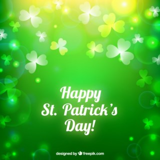 Saint Patrick Background in Bokeh Style Free Vector