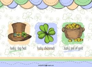 Saint Patrick's Elements Set Free Vector