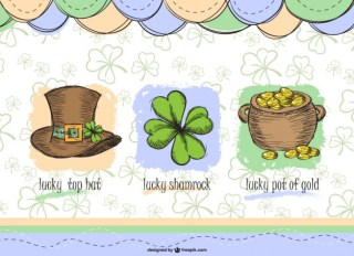 Saint Patrick's Elements Set Free Vector