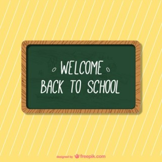School Blackboard Background Free Vector