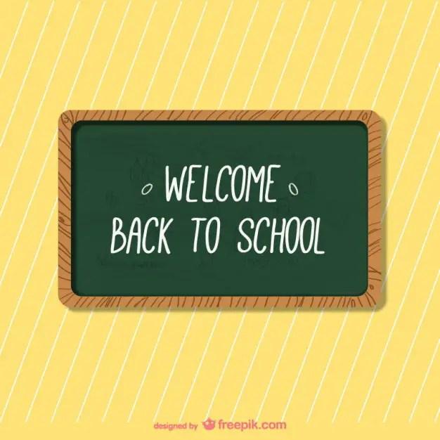 School Blackboard Background Free Vector