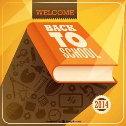 School Book Art Free Vector