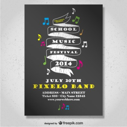 School Music Festival Poster Free Vector