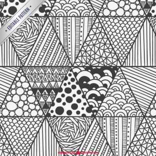 Scribbles Pattern Free Vector