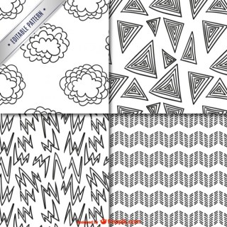 Scribbles Patterns Pack Free Vector