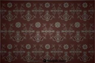 Seamless Floral Vintage Background Design Free Vector