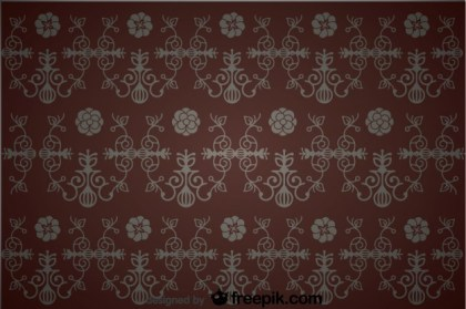 Seamless Floral Vintage Background Design Free Vector