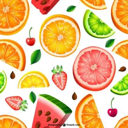 Seamless Fruit Pattern Free Vector