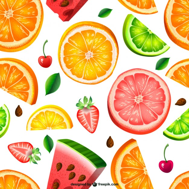 Seamless Fruit Pattern Free Vector