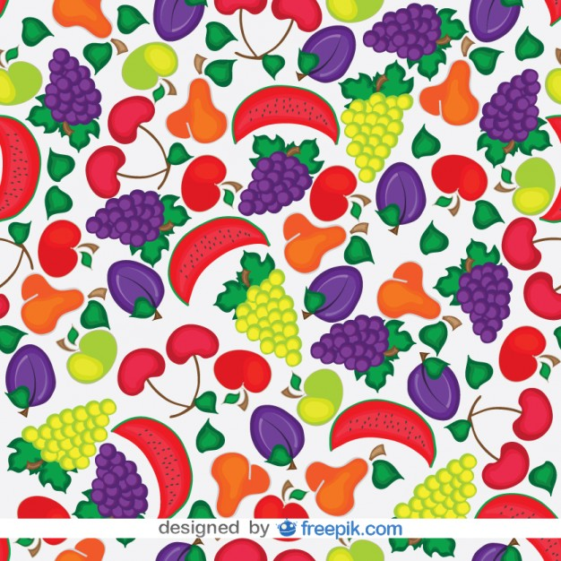 Seamless Fruits Pattern Free Vector