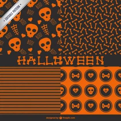 Seamless Halloween Patterns Free Vector