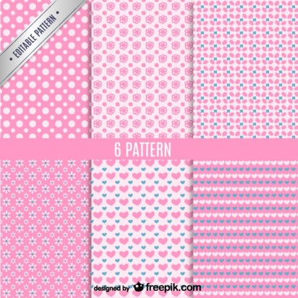 Seamless Patterns Set Free Vector