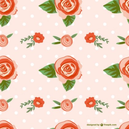 Seamless Rose Design Free Vector