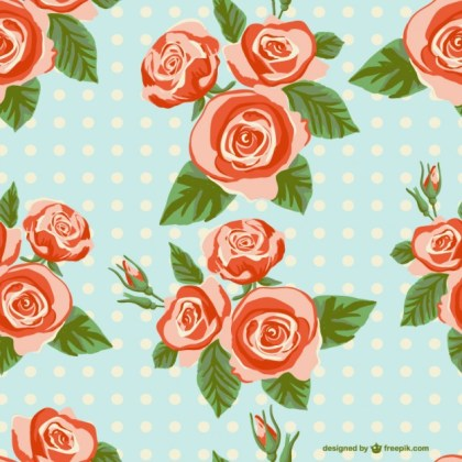 Seamless Roses Background Free Vector