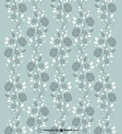 Seamless Roses Pattern Free Vector
