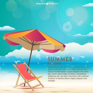 Seaside Summer Weekend Free Vector