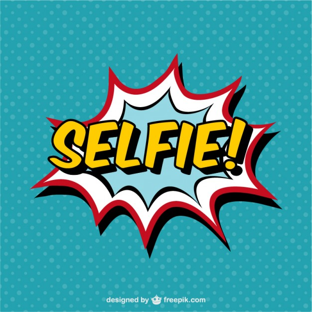 Selfie Comic Book Effect Free Vector