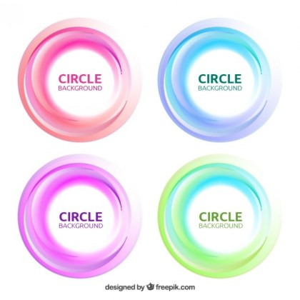 Set of Circles Background Free Vector