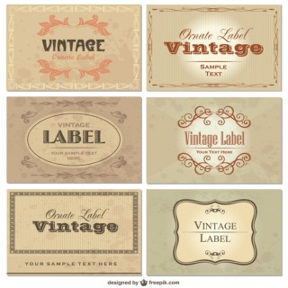 Set Vintage Labels Free Vector