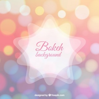 Shiny Background in Bokeh Style Free Vector