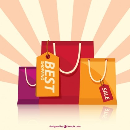 Shopping Bags Art Free Vector