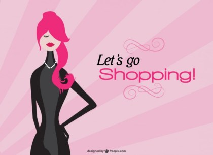 Shopping Girl Free Vector