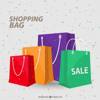 Shopping Happy Concept Illustration Free Vector