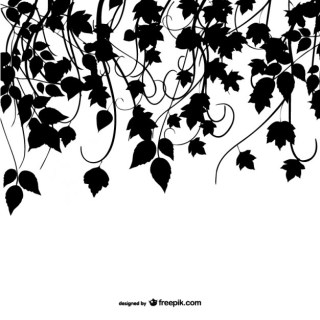 Silhouette Leaves Design Free Vector