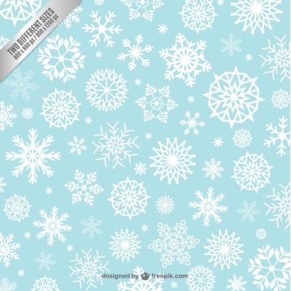 Snowflakes Background Pattern Free Vector