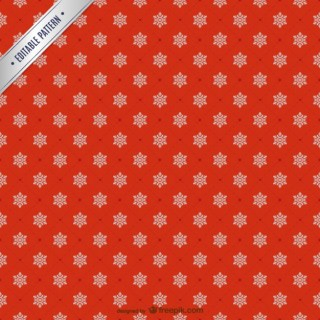 Snowflakes Pattern Background Free Vector