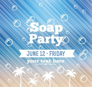 Soap Party Free Vector