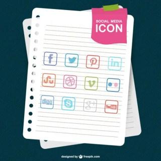 Social Media Sketch Paper Template Free Vector