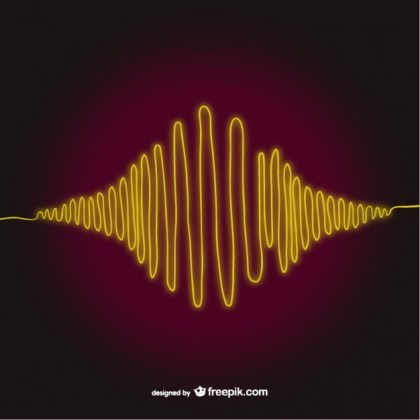 Sound Wave Art Free Vector