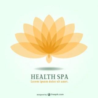 Spa Resort Lotus Emblem Logo Free Vector