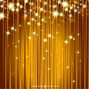 Sparkle Golden Background Free Vector
