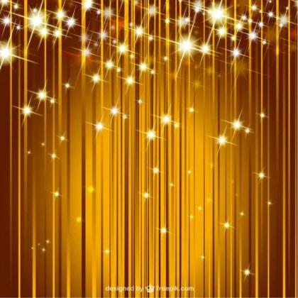 Sparkle Golden Background Free Vector