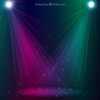 Sparkling Spotlight Free Vector