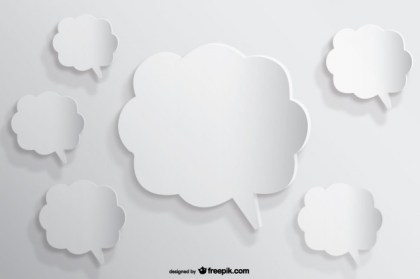 Speech Bubbles Background Paper Cutout Effect Free Vector