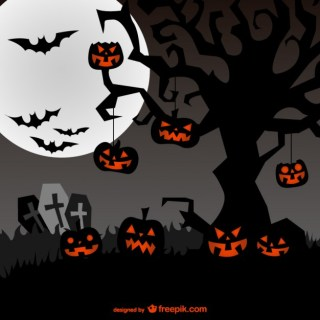 Spooky Background for Halloween Free Vector