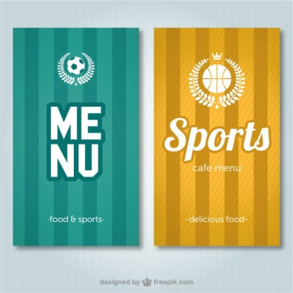 Sports Bar Menu Free Vector